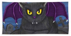 Vlad Vampire Cat Beach Towel