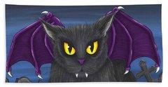Vlad Vampire Cat Beach Towel
