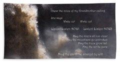 Beach Sheet featuring the photograph Voice Of Grandmother Calling by Agnieszka Ledwon