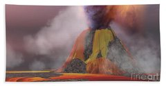 Volcanic Lands Beach Towel