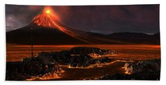 Volcanic Mountain Beach Towel