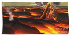 Volcanic Planet Beach Towel