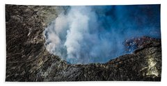 Another View Of The Kalauea Volcano Beach Towel