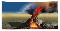 Volcano Smoke Beach Towel