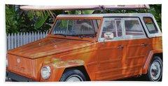 Volkswagen And Surfboards Beach Towel