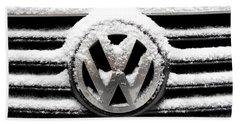 Volkswagen Symbol Under The Snow Beach Sheet