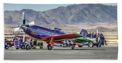 Voodoo Engine Start Sunday Gold Unlimited Reno Air Races Beach Towel