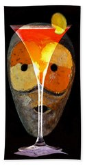 Beach Towel featuring the painting Voodoo Martini by David Lee Thompson