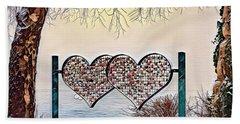 Beach Towel featuring the digital art Vow Of Love by Pennie McCracken