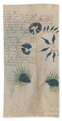 Voynich Flora 12 Beach Sheet