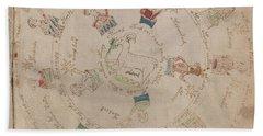 Voynich Manuscript Astro Aries Beach Towel