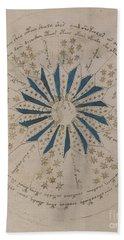 Voynich Manuscript Astro Rosette 1 Beach Towel