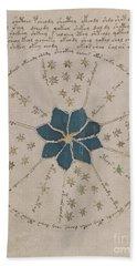 Voynich Manuscript Astro Rosette 2 Beach Sheet