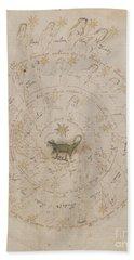 Voynich Manuscript Astro Scorpio Beach Towel