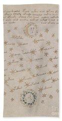 Voynich Manuscript Astro Sun And Moon 1 Beach Sheet