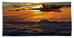 Vulcan Bomber Sunset 2 Beach Towel by Ken Brannen