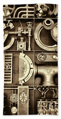 Vulcan Steel Steampunk Ironworks Beach Towel