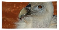 Vulture Portrait Beach Towel