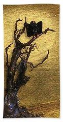 Vulture With Textured Sun Beach Towel