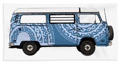 Vw Blue Van Beach Towel