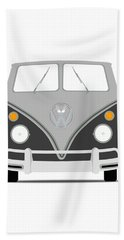Vw Bus Grey Beach Towel