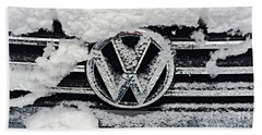 Vw Snow Day Beach Towel