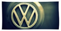 Vw Thing Emblem Beach Sheet by Joseph Skompski