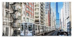 The Wabash L Train Beach Towel