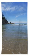 Wade In The Ocean Beach Towel by Adria Trail