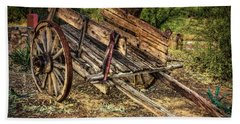 Wagon At Tanque Verde Ranch Beach Towel