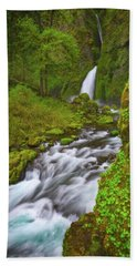 Beach Towel featuring the photograph Wahclella Falls by Darren White