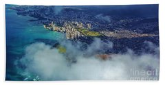 Beach Towel featuring the photograph Waikiki In Morning Light by Craig Wood