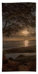 Waimea Bay Sunset 4 Beach Towel