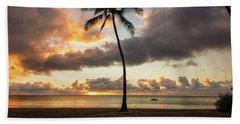 Waimea Beach Sunset - Oahu Hawaii Beach Sheet