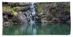 Waimea Waterfall Horizontal Beach Towel