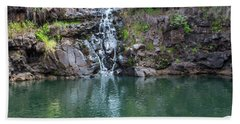 Waimea Waterfall Horizontal Beach Towel