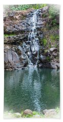 Waimea Waterfall Vignette Beach Towel