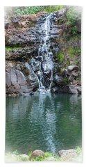 Waimea Waterfall Vignette Beach Sheet