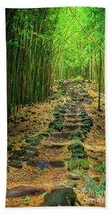 Waimoku Bamboo Forest #2 Beach Towel
