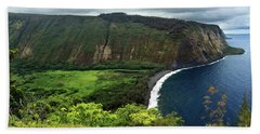 Waipio Valley Beach Towel by James Eddy