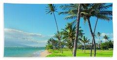 Beach Towel featuring the photograph Waipuilani Beach Kihei Maui Hawaii by Sharon Mau
