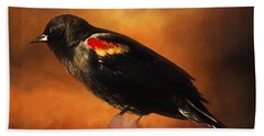 Waiting - Bird Art Beach Towel