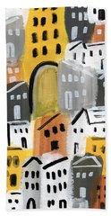 Waiting For Autumn- Expressionist Art Beach Towel