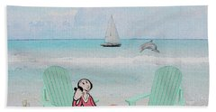 Waiting For Popeye Beach Towel