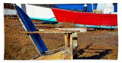 Waiting For Spring In Maine Beach Towel