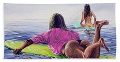 Waiting For The Sun Beach Towel