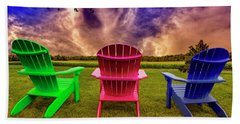Beach Towel featuring the photograph Calm Before The Storm by Paul Wear