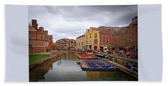 Beach Towel featuring the photograph Waiting For The Tourists Cambridge by Gill Billington