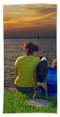 Beach Towel featuring the photograph Waiting.......... by Judy Johnson