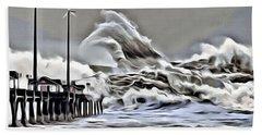Wake Of Nature Beach Towel